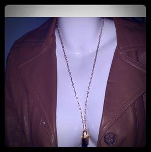 Louis vuitton lock, key. Necklace